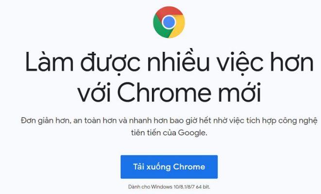 cách tải chrome cho máy tính