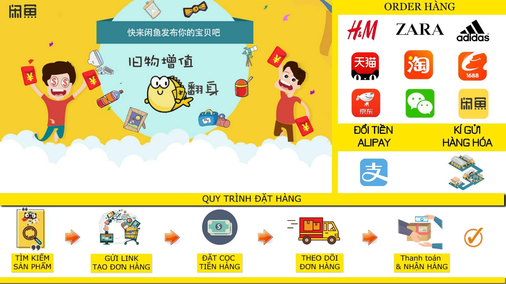 Quy trình mua hàng trên Xianyu